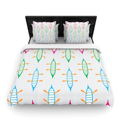 Yenty Jap Sail Away Woven Duvet Cover Size: Twin