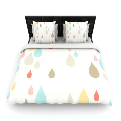 Very Sarie Rainy Days Rain Woven Duvet Cover Size: Twin