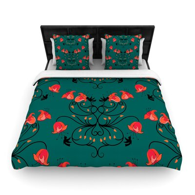Yenty Jap Hummingbird Woven Duvet Cover Size: Full/Queen