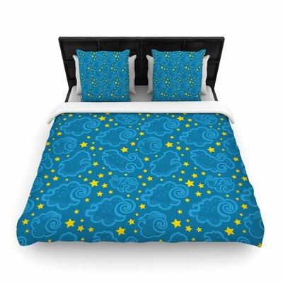 Yenty Jap Starry and Cloudy Night Woven Duvet Cover Size: King