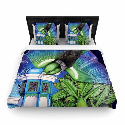 Vinny Thompson New Zealand Bird Woven Duvet Cover Size: Full/Queen