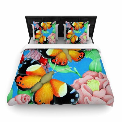 Vinny Thompson Admiral Tropical Woven Duvet Cover Size: Twin