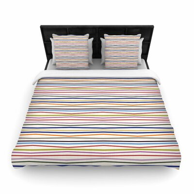 Yenty Jap Stripe Fun Woven Duvet Cover Size: King
