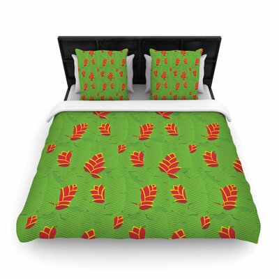 Yenty Jap Heliconia Woven Duvet Cover Size: King