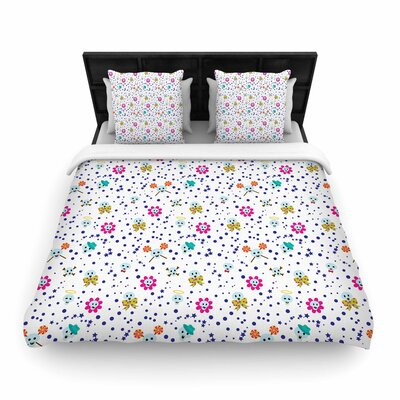Yenty Jap Happy Skull Woven Duvet Cover Size: King