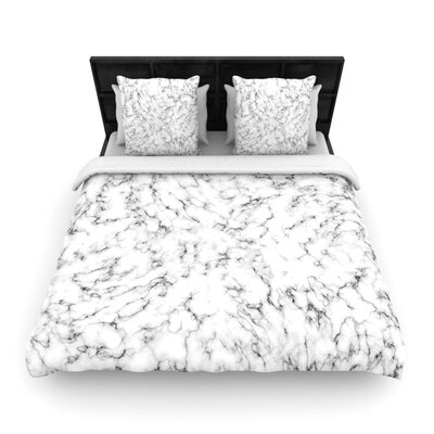 Will Wild Marble Woven Duvet Cover Size: King