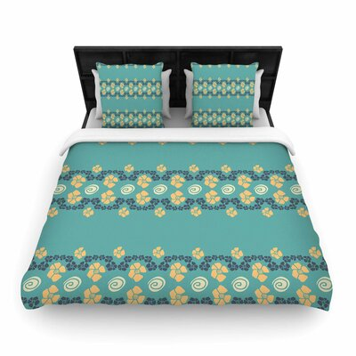 Zara Martina Mansen Flora Formations Woven Duvet Cover Size: Full/Queen
