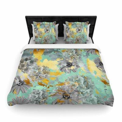 Zara Martina Mansen Garden Woven Duvet Cover Size: King