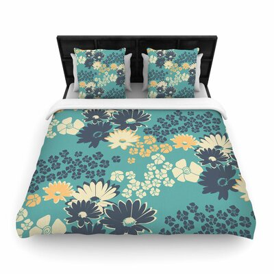 Zara Martina Mansen Bouquet Woven Duvet Cover Size: King