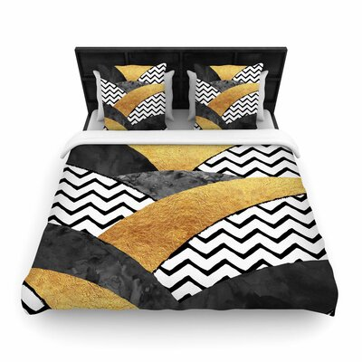 Zara Martina Mansen Chevron Hills Woven Duvet Cover Size: King