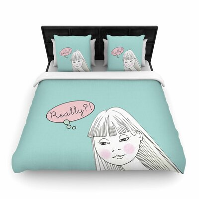 Zara Martina Mansen Really Girl Woven Duvet Cover Size: King