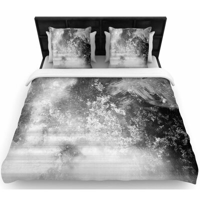 Chelsea Victoria Black Ice Woven Duvet Cover Size: King