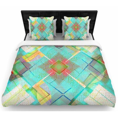 Cvetelina Todorova Blue Sound Woven Duvet Cover Size: Full/Queen