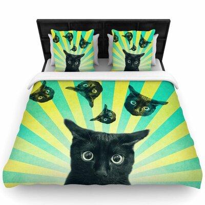Cvetelina Todorova Cat Explosion Woven Duvet Cover Size: Full/Queen
