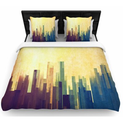 Cvetelina Todorova Cloud City Woven Duvet Cover Size: Full/Queen