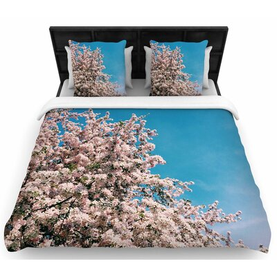 Chelsea Victoria Blossom Tree Woven Duvet Cover Size: Full/Queen