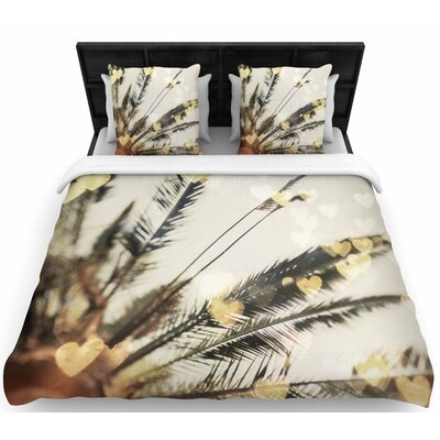 Chelsea Victoria California Love Bokeh Nature Woven Duvet Cover Size: King