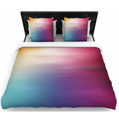 Chelsea Victoria Color Rush Love Woven Duvet Cover Size: King