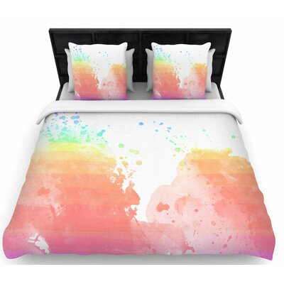 Chelsea Victoria Color Splatter Woven Duvet Cover Size: Full/Queen