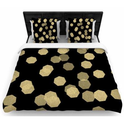 Chelsea Victoria Confetti Noir Woven Duvet Cover Size: King