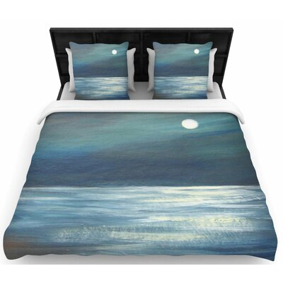 Cyndi Steen 'A Walk in the Moonlight' Woven Duvet Cover Size: Twin