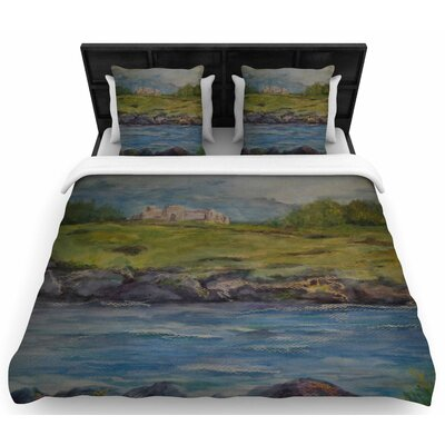 Cyndi Steen Castle Ruins Woven Duvet Cover Size: Twin