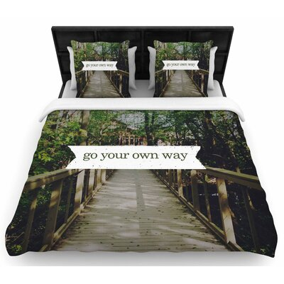 Chelsea Victoria Go Your Own Way Woven Duvet Cover Size: Twin