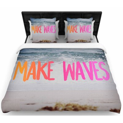 Chelsea Victoria Make Waves Photography Woven Duvet Cover Size: King