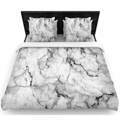 Chelsea Victoria Marble No 2 Modern Woven Duvet Cover Size: Twin