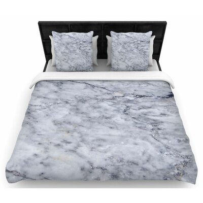 Chelsea Victoria Marble Woven Duvet Cover Size: Twin