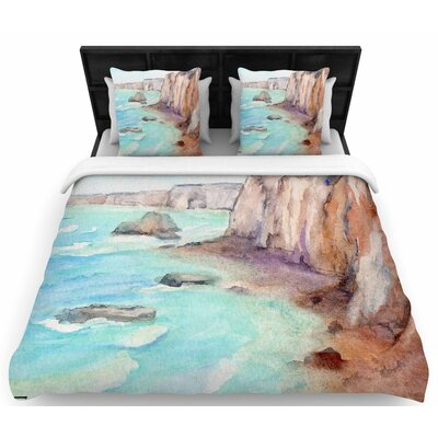 Cyndi Steen Cliffs at Normandie Travel Woven Duvet Cover Size: Twin