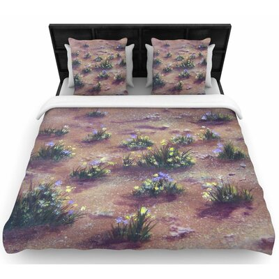 Cyndi Steen Desert Weeds Woven Duvet Cover Size: Full/Queen