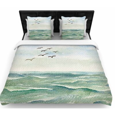 Cyndi Steen Flock Flying Low Woven Duvet Cover Size: King