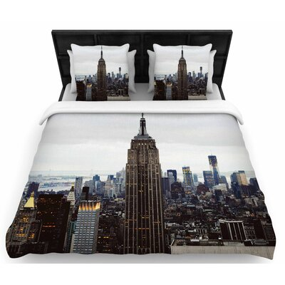 Chelsea Victoria New York Stories Urban Travel Woven Duvet Cover Size: King