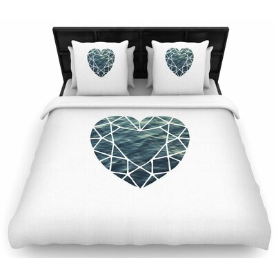 Chelsea Victoria Ocean Love Photography Woven Duvet Cover Size: King