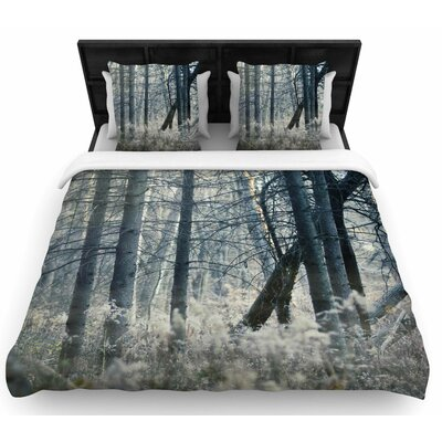 Chelsea Victoria Out of the Woods Photography Woven Duvet Cover Size: Full/Queen