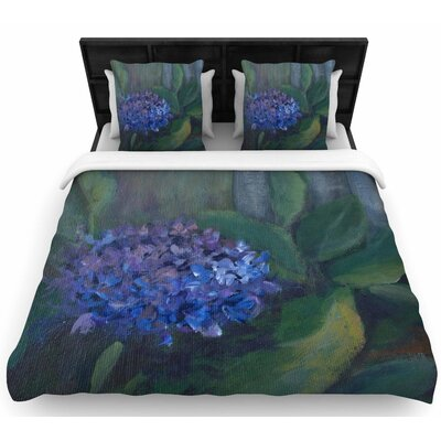 Cyndi Steen Hydrangea Floral Woven Duvet Cover Size: King