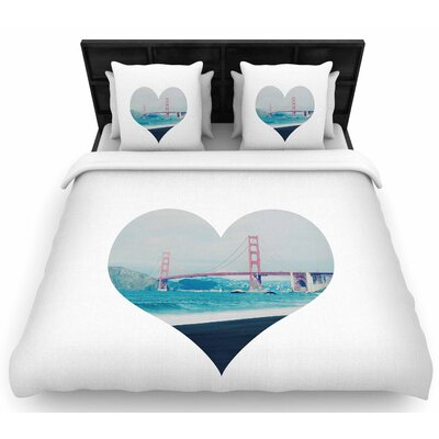 Chelsea Victoria San Francisco Love Woven Duvet Cover Size: Full/Queen