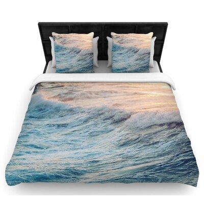 Chelsea Victoria Sherbert Ocean Woven Duvet Cover Size: Twin