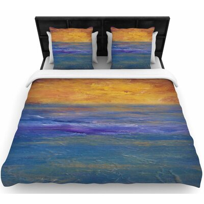 Cyndi Steen Sky on Fire Woven Duvet Cover Size: King