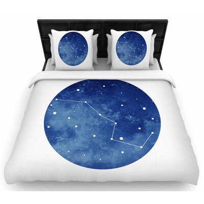 Chelsea Victoria Ursa Major Celestial Woven Duvet Cover Size: King