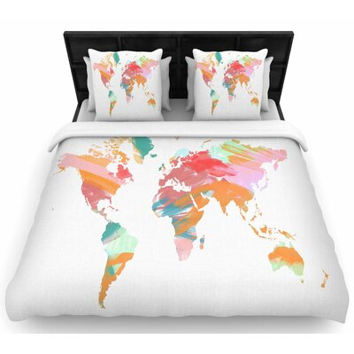 Chelsea Victoria Wild World Travel Woven Duvet Cover Size: Twin