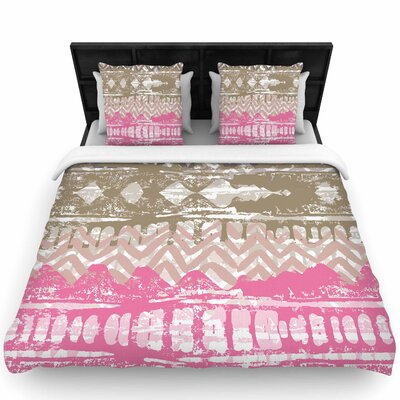 Chickaprint Allegro Woven Duvet Cover Size: King