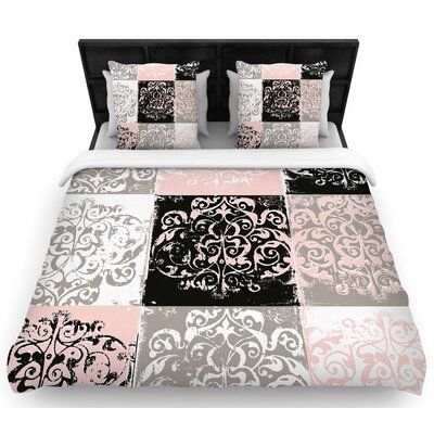 Chickaprint Damaskmix Woven Duvet Cover Size: King