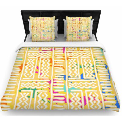 Dan Sekanwagi Lines and Zigzags - Colorful Tribal Woven Duvet Cover Size: King