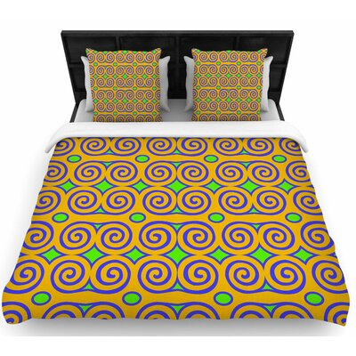 Dan Sekanwagi Locked Rams Horns-Clear Day Digital Woven Duvet Cover Size: Full/Queen