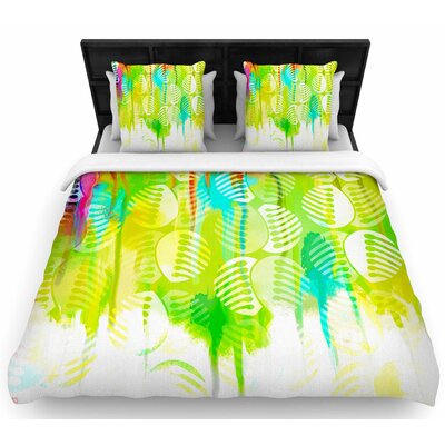 Dan Sekanwagi Poddy Combs - Wet Paint Woven Duvet Cover Size: Twin