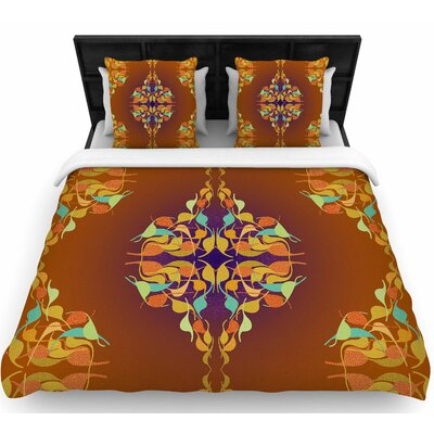 Dan Sekanwagi Purple Feast Woven Duvet Cover Size: Twin