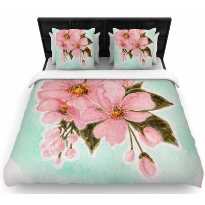 Christen Treat Fumiko Woven Duvet Cover Size: Twin
