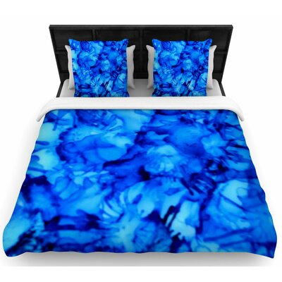 Claire Day Blue Woven Duvet Cover Size: King